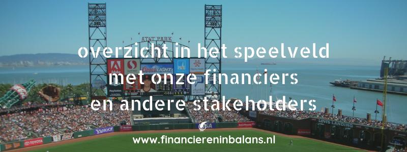 overzicht in speelveld financiers stakeholders | Financieren in Balans