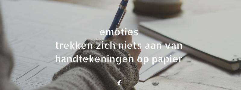 Emoties trekken zich niets aan van handtekeningen op papier   Financieren in Balans