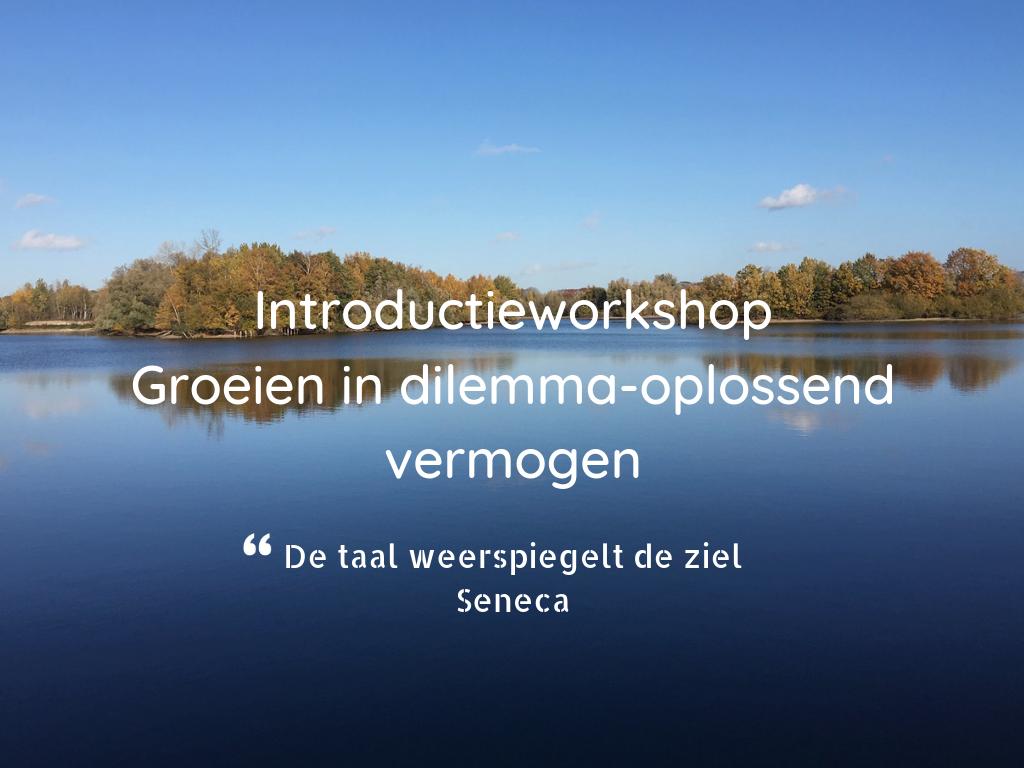 Introductieworkshop Groeien in dilemma-oplossend vermogen familiebedrijven