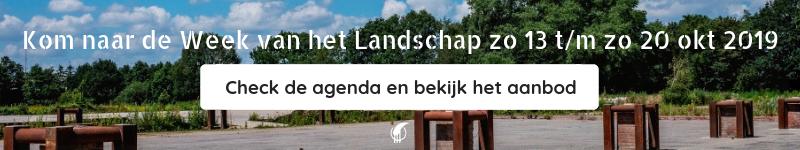 Week van het Landschap 2019 Check agenda en bekijk aanbod